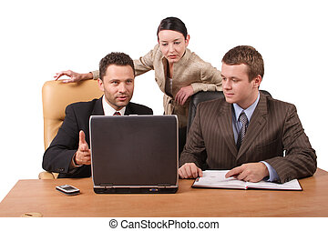 business people - Group of 3 business people working...