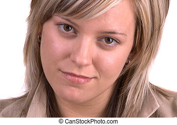 Pretty Blond Woman - Attractive Blond Young Woman Looking...