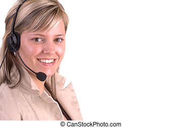 On Line Help - Attractive Female On Line Help Representative...
