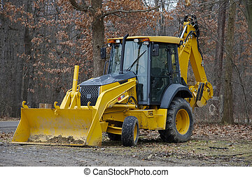 Backhoe at Construction Site