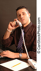 business man on phone 2430 - business man on phone model...