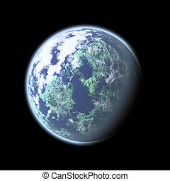 Fictional Earth - Fictional image of the Earth