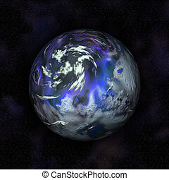 Fictional Earth - Fictional image of planet earth