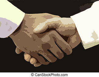 Shake on it - Businessmen shaking hands