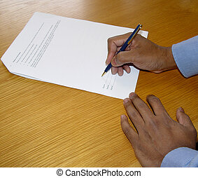 Signing the contract - Businessman signing a contract