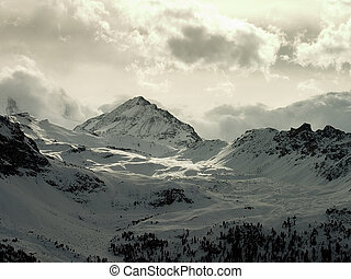 Alps landscape - View of the alps (Valais, Switzerland)