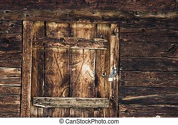 Mountain cottage door