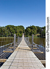Swinging Bridge - Souris swinging bridge, MB, Canada
