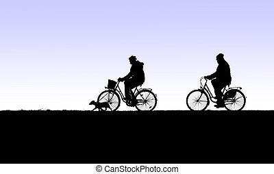 bicycle tour with dog