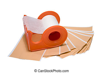 Adhesive Bandage - Adhesive bandage on white background