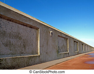 Sea-wall,perspective