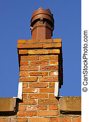 Chimney Stack 11 - A chimney stack at roof level on an old...