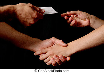 Exchange - hand shake