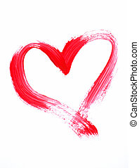 red heart - painted red heart