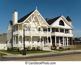 Shore Homes - This a shot of some victorian style beach...