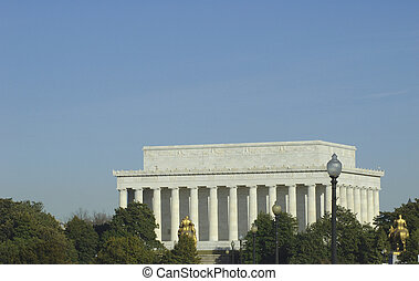 Lincoln memorial in Washington D. C.  back view.