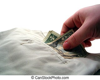 Pick Pocket 2 - Hand picking $21 USD from business pants....