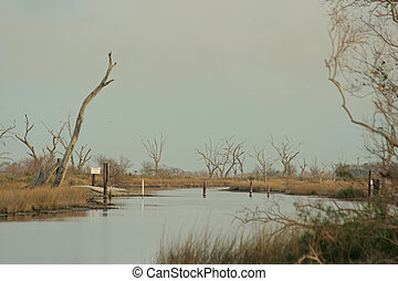 lonely bayou - bayou at Pointe-aux-Chenes, Louisiana