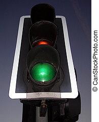 tráfico, luz, Gre