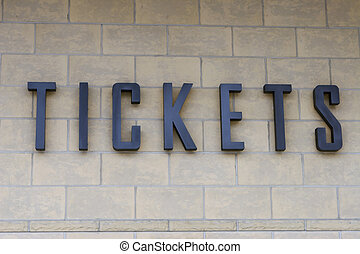 Tickets - Ticket Sign
