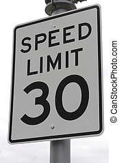Speed Limit - 30 Mph speed limit sign