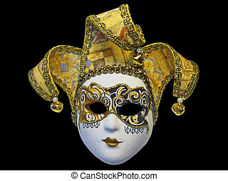 Beautifull venetian mask isolated on black