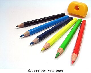Color pencils 2 - Composition from color pencils and...