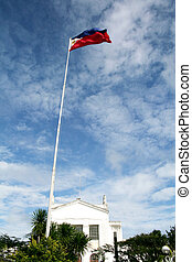 Philippine Flag against blue sky