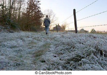 Walk on a cold morning