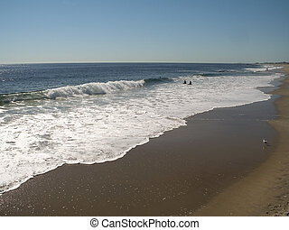 White Surf - This is a shot of the surf in Ocean Grove, down...