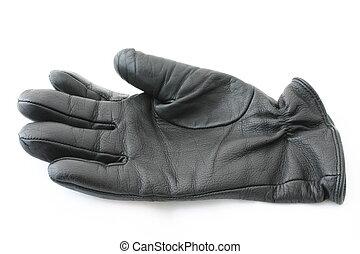 黑色, 皮革, 手套