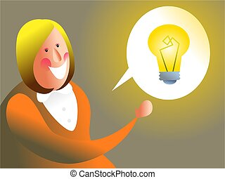 i have and idea - business executive with bright ideas -...