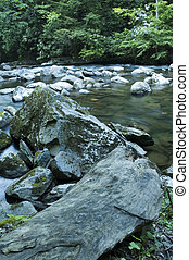 JW_029_007_05 - Little River @ Tremont, Great Smoky Mtns...