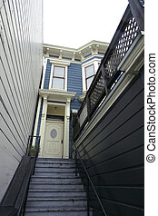 Victorian Stairwell - Stairwell leading to San Francsico...