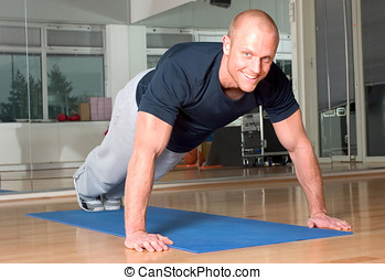 Pushup - Man doing pushup\\\'s