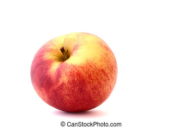 lonely apple on whit