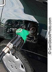 Fuel Pump - petrol pump filling car up with fuel