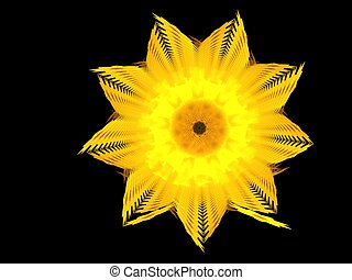 daffodil - abstract fractal background created with...
