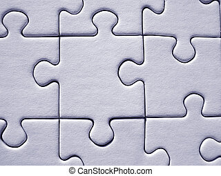 Jigsaw pattern - Blue jigsaw puzzle background