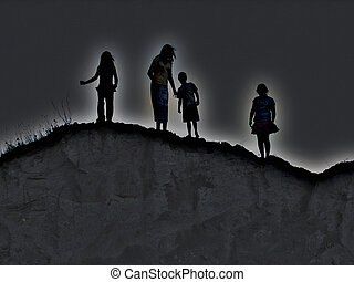 Destiny - Four kids as they stand on the edge of their own...