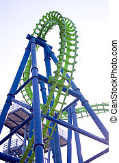 roller coaster - view of roller coaster