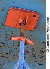 Dry Dock Jack - Photo of a detail of a commercial fishing...