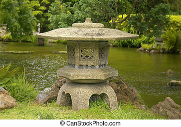 Japanese lantern - Stone lantern located in the San...