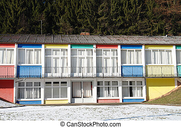Colorful Houses - A row of colorful houses in the Palatinate...