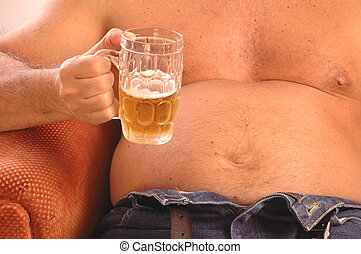 beer drinker 377 - beer drinker belly