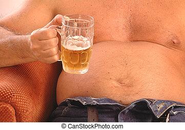 beer drinker 377 - beer drinker belly