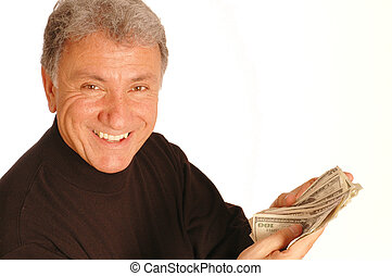 man with money 163 - smiling man with money model released...