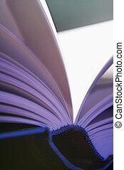aufgeschlagene Seiten- pitched pages - aufgeschlagenes, blau...