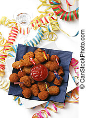 Party snack - Party snack for the hungry, appetizing meat...