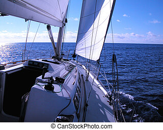 sailing in Atlantic